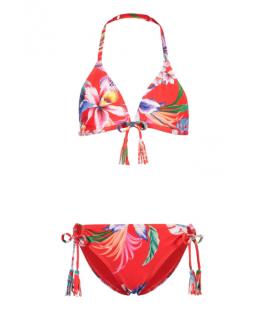 Triangle bikini sayulita flame red - Shiwi front