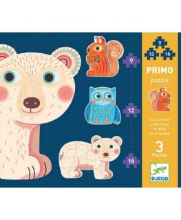 Primo puzzel in het bos +3j - Djeco