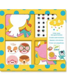 Create stickers I Love animals 3-6j - Djeco