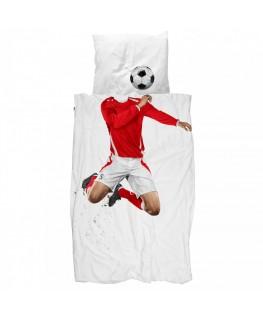 Dekbedovertrek Soccer rood- SNURK