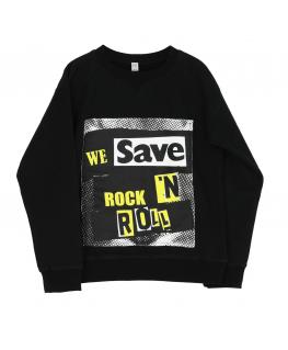Wide Sweater We Save Rock - Six Hugs & Rock'n Roll