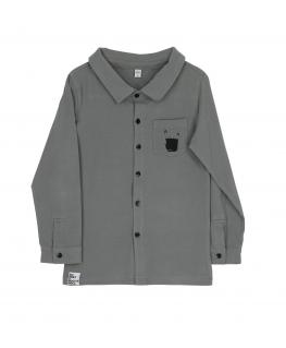 Button Shirt Grey - Six Hugs & Rock'n Roll