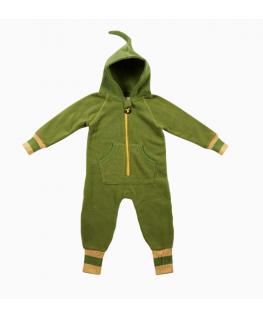 Fleece suit green/yellow - Ducksday