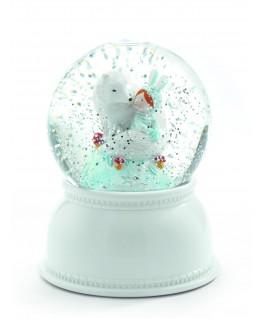 Sneeuwbol & nachtlicht lila & pupi - Djeco