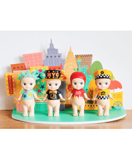 Sonny Angel New York series gift box / display kit met 4 Sonny Angels (limited edition!)