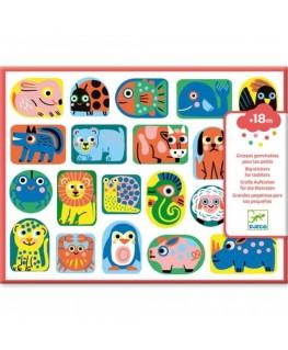 Grote stickers voor de kleintjes. Mooie vormen - Djeco