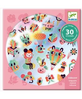 Stickers hartjes en regenbogen 4-8j - Djeco