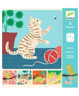 Sjablonen dierenvriendjes 4-8j - Djeco