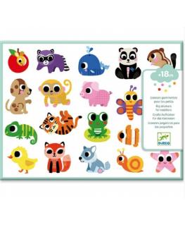 Grote stickers babydieren + 18m - Djeco