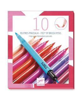 10 viltstiften meisje +6j - Djeco