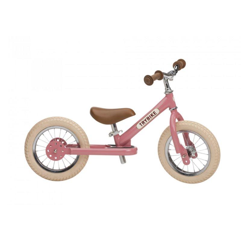 Loopfiets Staal Vintage Roze - Trybike