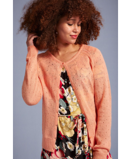 Cardi Roundneck Fluffy Reef Coral - King Louie