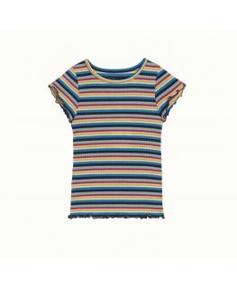 Frilly Tee Daydream stripe - Petit Louie