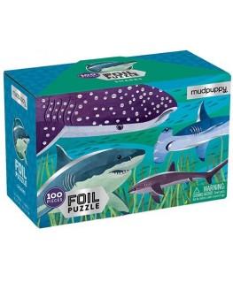 Foil puzzel Sharks 100 stukken - Mudpuppy