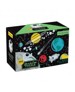 Glow in the dark puzzel Outer Space 100 stukken - Mudpuppy