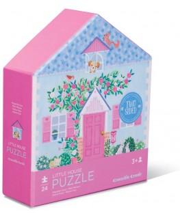 Dubbelzijdige puzzel  Little House 24 stukken +3y - Crocodile Creek