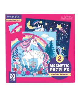 Set van 2 Magnetische Puzzels Eenhoorn 20 stukken +4y - Mudpuppy