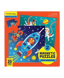 Set van 2 Magnetische Puzzels Ruimtevaart 20 stukken +4y - Mudpuppy