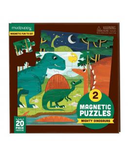 Set van 2 Magnetische Puzzels Dinosaurussen 20 stukken +4y - Mudpuppy