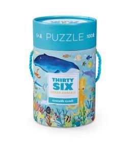 Puzzel Ocean Animals 100 stukken +5y - Crocodile Creek