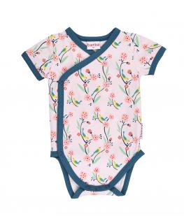 Wikkel body korte mouw birds - Ba*Ba Baby Kidswear