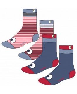 2 paar sokken red-white-blue - Woody
