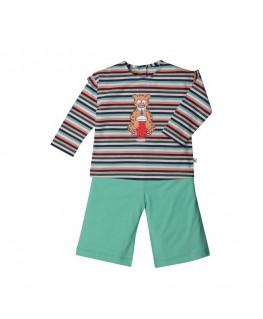 Meisjes baby pyjama munt panter - Woody
