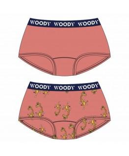 Meisjes short duo koraal + giraf print - Woody