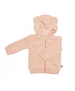 Hoodie Balou pink velours - Froy&Dind