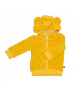Hoodie Balou Yellow Velours - Froy&Dind