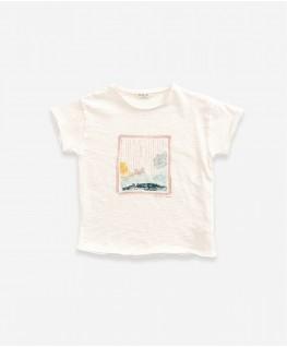 Flamé Jersey T-shirt natural - Play Up