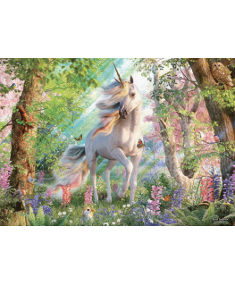 Cobble Hill puzzle 500 pieces - Unicorn in the Woods