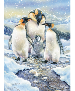 Cobble Hill family puzzle 350 pieces - Penguin Family